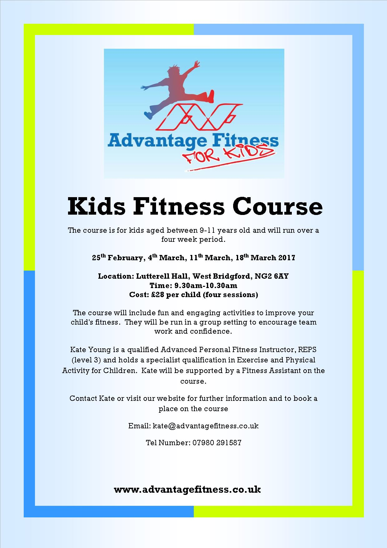 Nottingham Kids Fitness Course