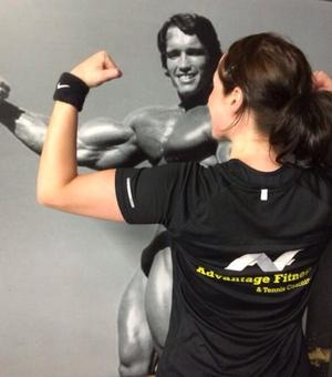 Even Arnie likes getting motivated with the Advantage Fitness Team
